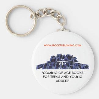 "logo 12 copy.jpgnoback, ""COMING OF AGE BOOKS FO... Basic Round Button Key Ring"
