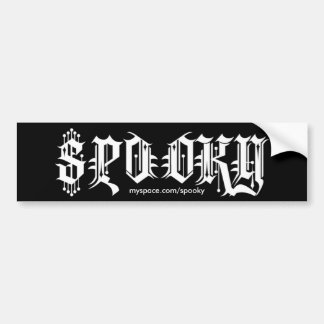 Logo 2, myspace.com/spooky bumper sticker