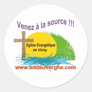 Logo ADD  Eglise Evangélique Round Sticker