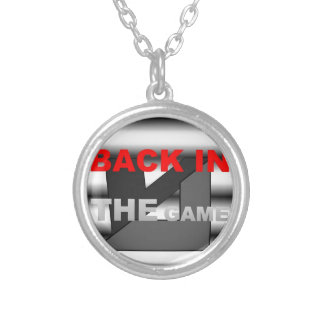 LOGO BACK IN THE GAMEa.jpg Round Pendant Necklace