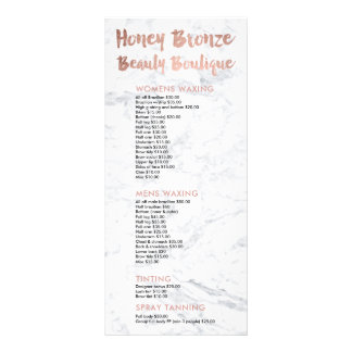 Logo beauty gold typography marble price list rack card