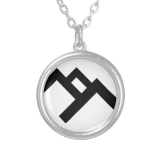 logo-black (2) silver plated necklace