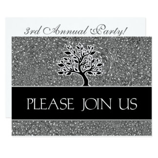Logo Business Party Invitation Black and White