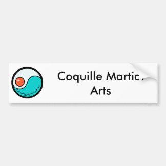 logo, Coquille Martial Arts Bumper Sticker