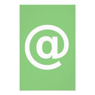 Logo de courriel custom stationery