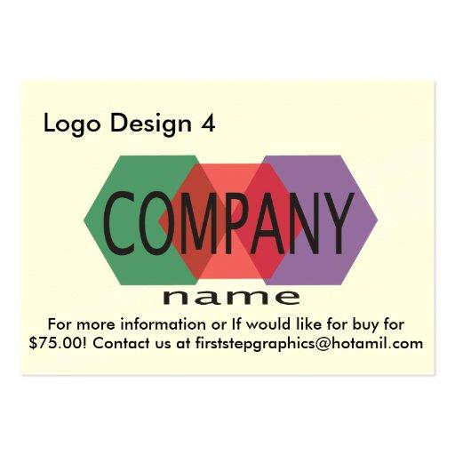 Logo Design 4 Business Card Template