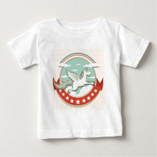Logo design with Pegasus flying Baby T-Shirt