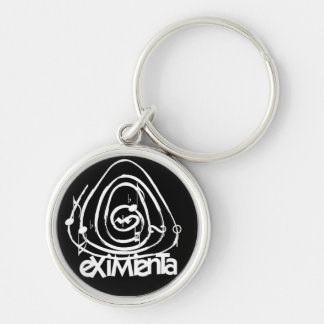 Logo eXiMienTa Silver-Colored Round Key Ring