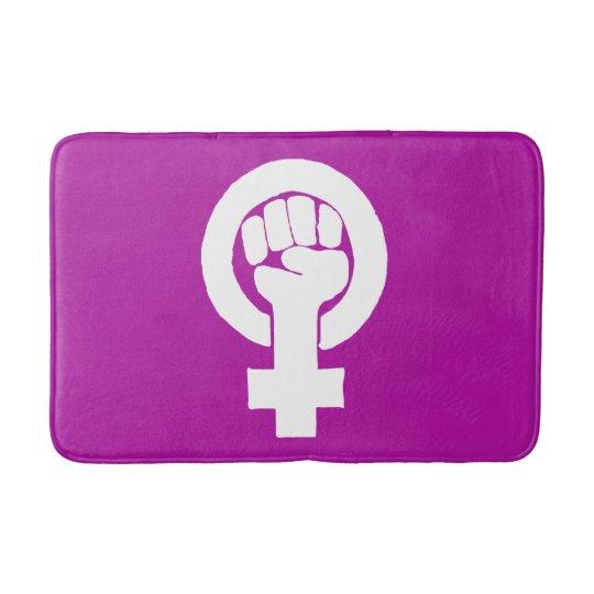 Logo, feminist / feminista, equality / igualidad: bath mat