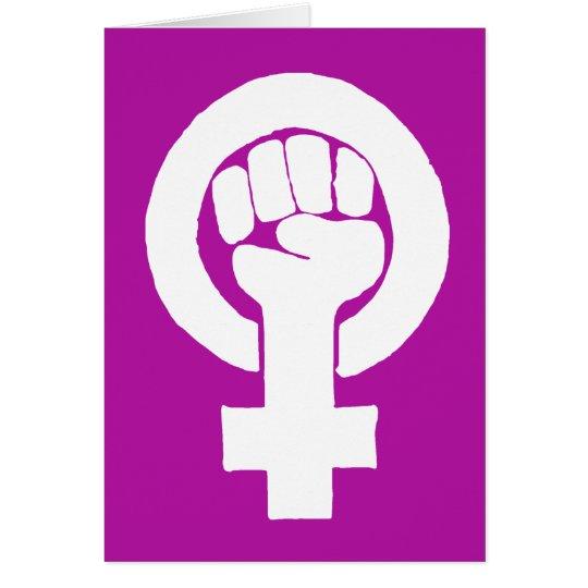 Logo, feminist / feminista, equality / igualidad: card