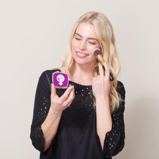 Logo, feminist / feminista, equality / igualidad: mirror for makeup