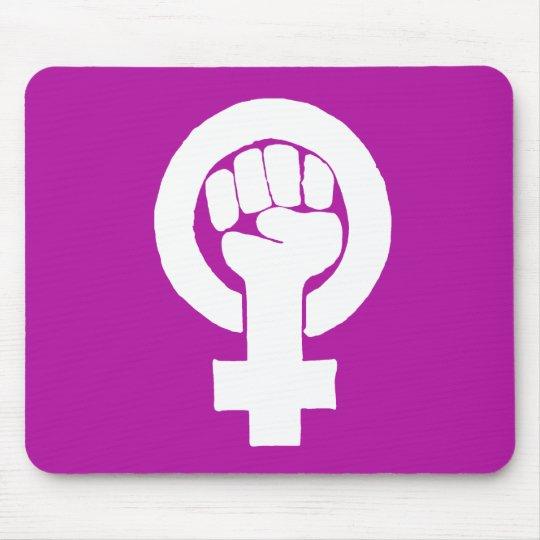 Logo, feminist / feminista, equality / igualidad: mouse pad