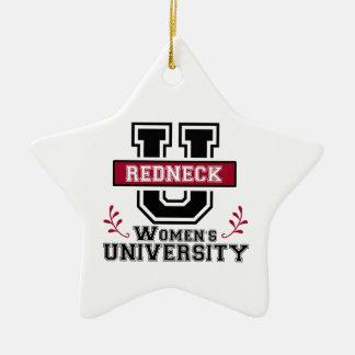 Logo for Redneck Women Double-Sided Star Ceramic Christmas Ornament