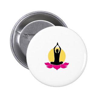 Logo for yoga or fitness center pin