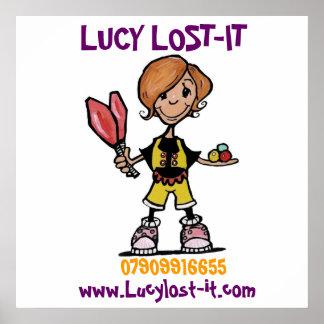 logo in progress, LUCY LOST-IT, www.Lucylost-it... Poster