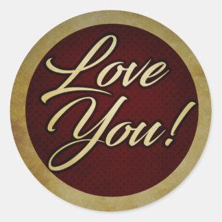 Logo - Love You! Round Sticker
