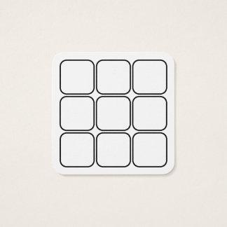 logo loyalty rewards square square business card