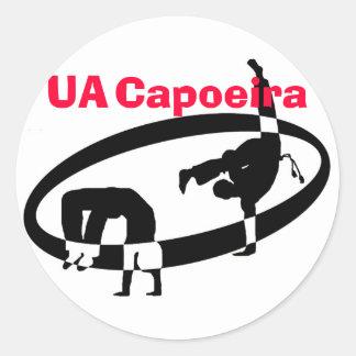 logo no text, UA, Capoeira Round Sticker