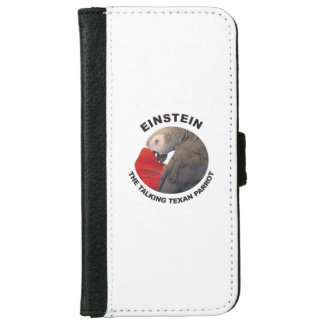 Logo of Einstein the Talking Texan Parrot iPhone 6 Wallet Case