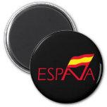 Logo of Spain 6 Cm Round Magnet