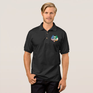 Logo of the Stars and stripes plus tricolor. Polo Shirt