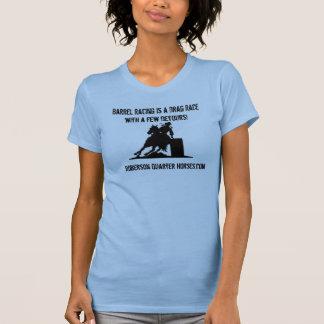 logo, Roberson Quarter Horses.com, Barrel Racin... T-Shirt