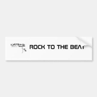 LOGO/ROCK TO THE BEAT BUMPER STICKER
