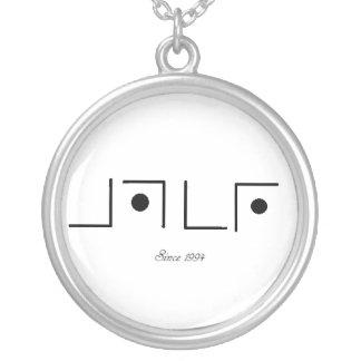 logo round pendant necklace