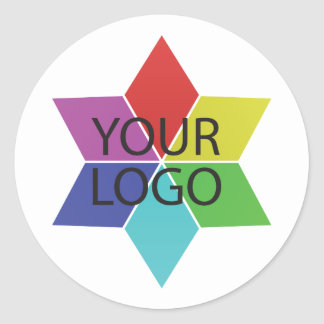 logo symbol business company promotion classic round sticker