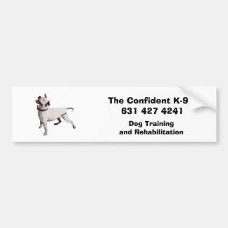 logo, The Confident K-9   631 427 4241, Dog Tra... Bumper Sticker