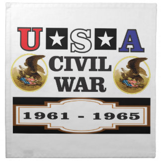 logo usa civil war napkin