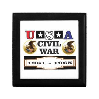 logo usa civil war small square gift box