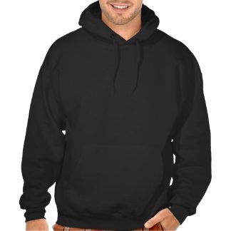 Logo with paint streaks hooded sweatshirt