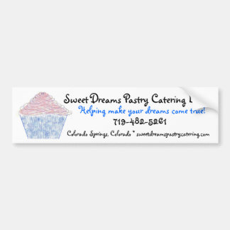 logoc, Sweet Dreams Pastry Catering LLC, Helpin... Bumper Sticker