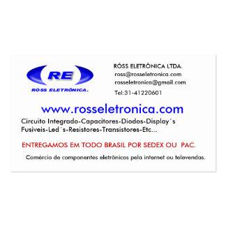 logofixozazzle, www.rosseletronica.com, RÓSS EL… Business Card Template