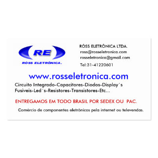 logofixozazzle, www.rosseletronica.com, RÓSS EL… Pack Of Standard Business Cards