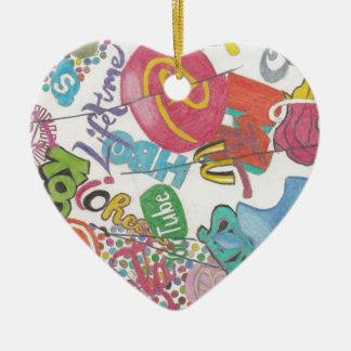 Logos Ceramic Heart Decoration
