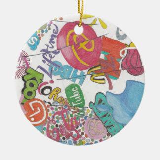 Logos Ceramic Ornament