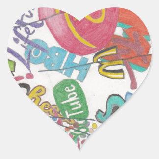 Logos Heart Sticker