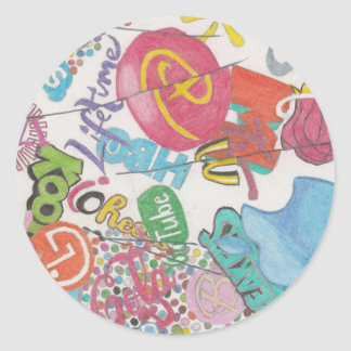 Logos Round Sticker