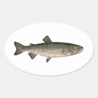 Lohanton Cutthroat Trout Oval Sticker