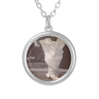 Loie Fuller Dancing Silver Plated Necklace