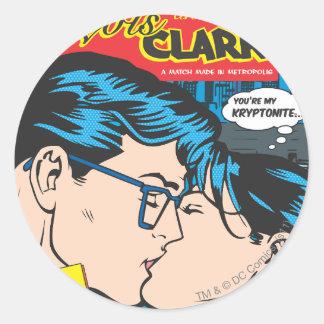 Lois and Clark Comic Round Sticker