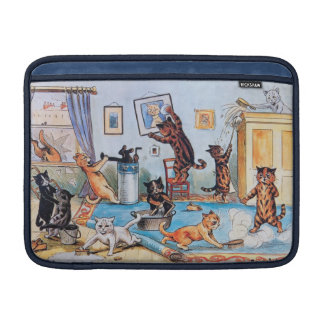 Lois Wain - Funny Cats Spring Cleaning MacBook Sleeve