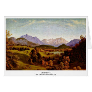 Loisachtal By Olivier Ferdinand Greeting Card