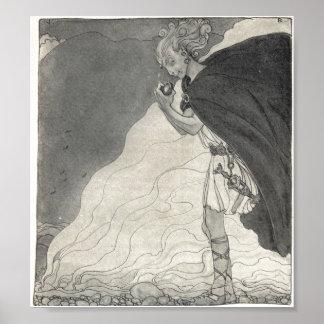 Loki Finds Gullveig's Heart - John Bauer Poster