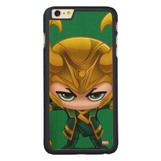 Loki Stylized Art Carved® Maple iPhone 6 Plus Case