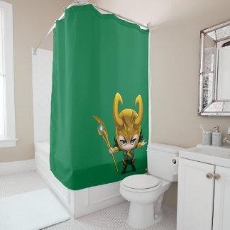 Loki Stylized Art Shower Curtain