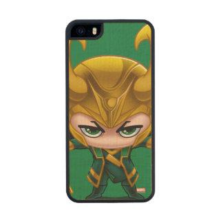 Loki Stylized Art Wood iPhone SE/5/5s Case
