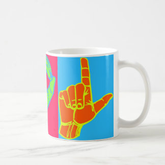 LOL ASL Sign Language Design Coffee Mug